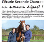 Sp�cial Cheval - L'Ecurie Seconde Chance, un nouveau d�part